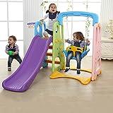 أطفال 3 في 1 اللعب في الهواء الطلق هيكل جامبو الشرائح مع سوينغ و سلة الكرة لعبة
