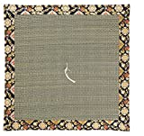 Four Seasons Handmade Japanese Brocade Fabric Zabuton Meditation Cushion (Gras shopper) 23.6× 23.6Inch
