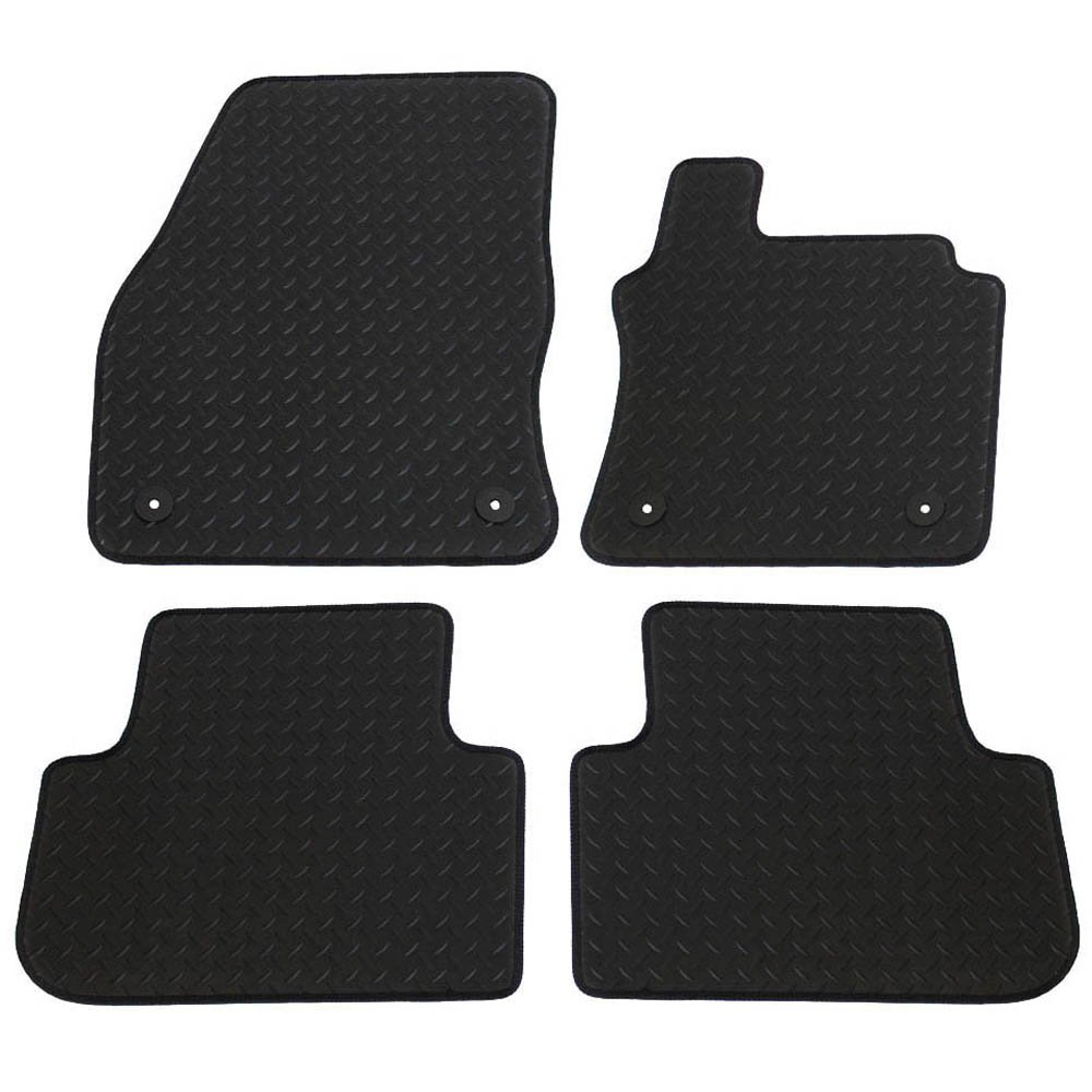 4 Pieces Black JVL Fully Tailored Car Mats with 4 Clips