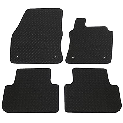 JVL Fully Tailored Car Mats with 4 Clips 4 Pieces Black