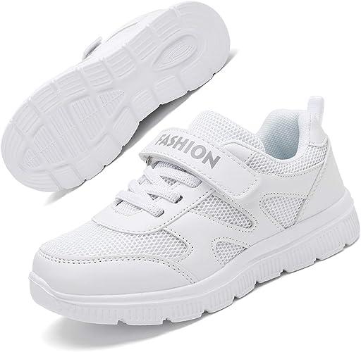 Minbei Unisex Kinder Hallenschuhe Jungen Sneakers Atmungsaktive Sportschuhe Laufschuhe M/ädchen Leichte Turnschuhe