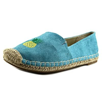 1.4.3. Girl Womens Island Closed Toe Espadrille Flats, Aqua/Pineapple, Size 11.0