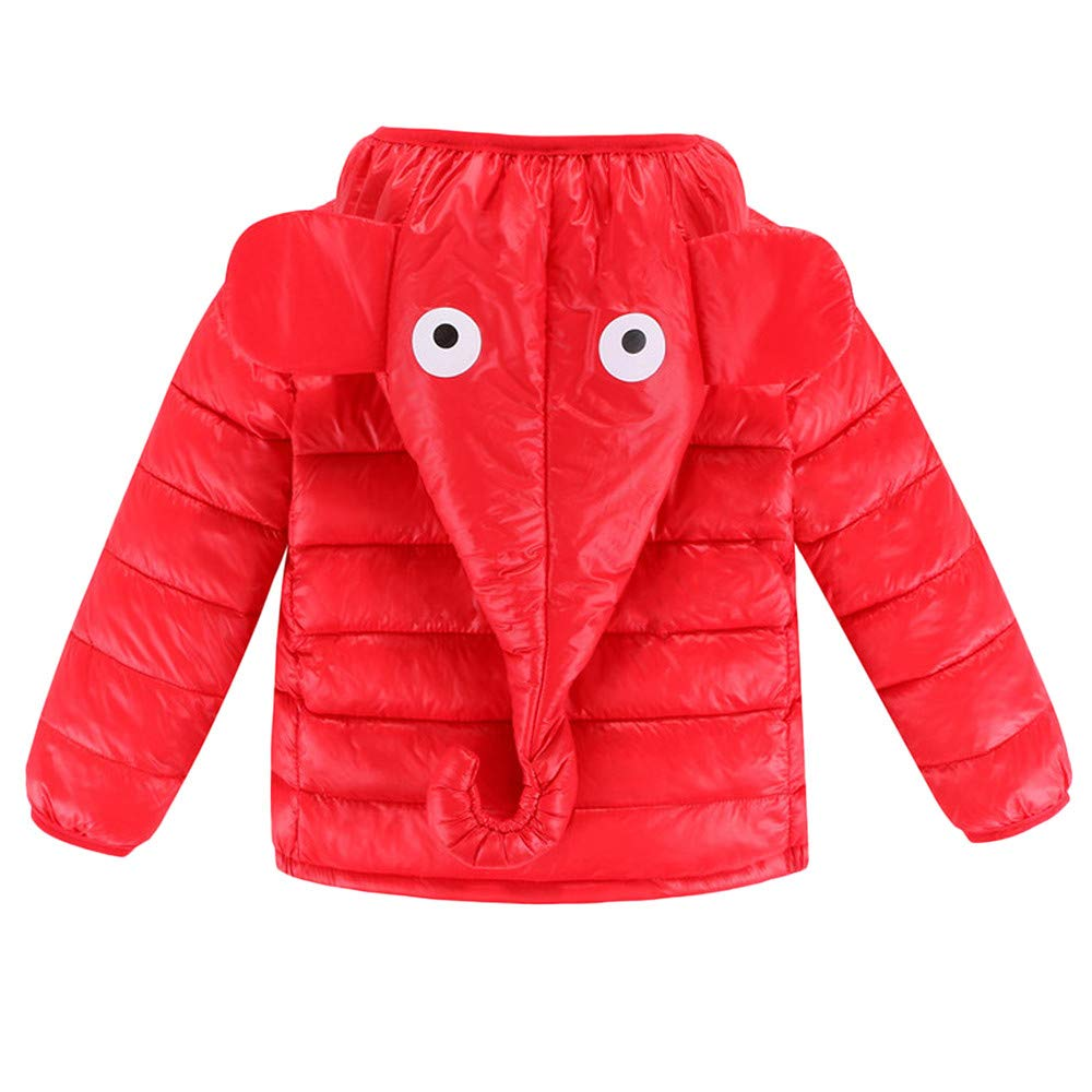 Goldatila (3y-7y) Children's Long Sleeve Thick Elephant Nose Hooded Jacket Kids Baby Girl Boy Winter Hooded Coat Cloak Jacket Thick Warm Outerwear Clothes Goldatila Tech