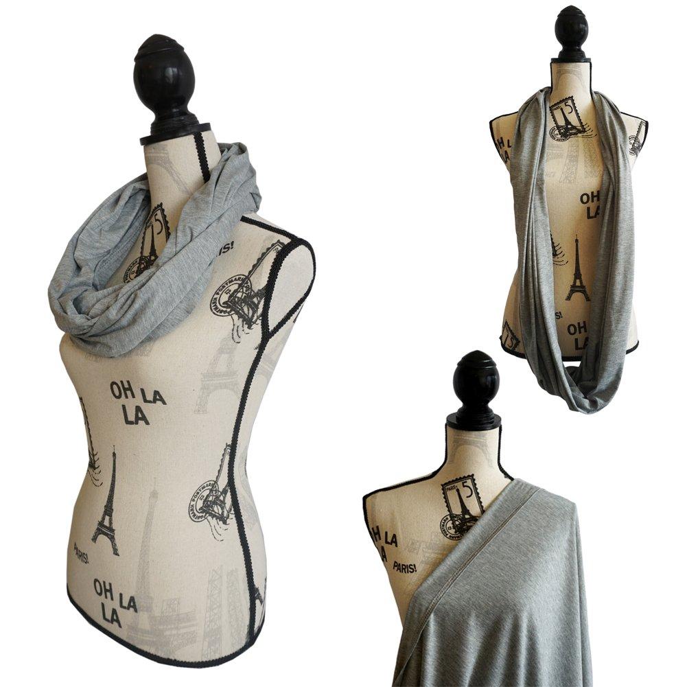 割引価格 100% Cotton Nursing Cover Nursing - & Nursing scarf for Breastfeeding Cotton Babies - Breastfeeding Scarf - Infinity Nursing Scarf - Solid Design (Grey) by BiteBaby B01FKVM6JQ, 新潟菓子本舗:1e9115e8 --- a0267596.xsph.ru