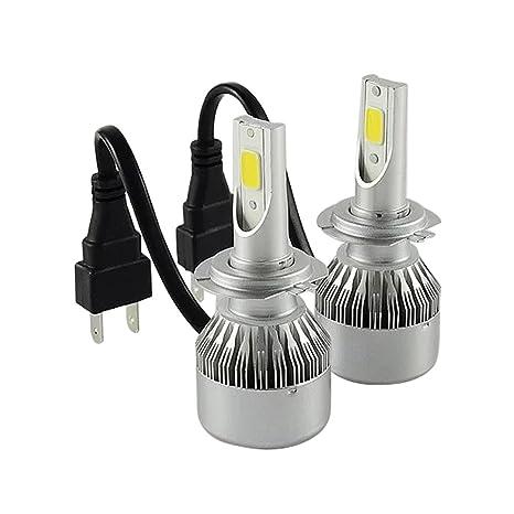 TXVSO8 H7 110W LED COB Luces Delanteras del Coche Kit 9200LM 6000K Lámparas de luz Blanca
