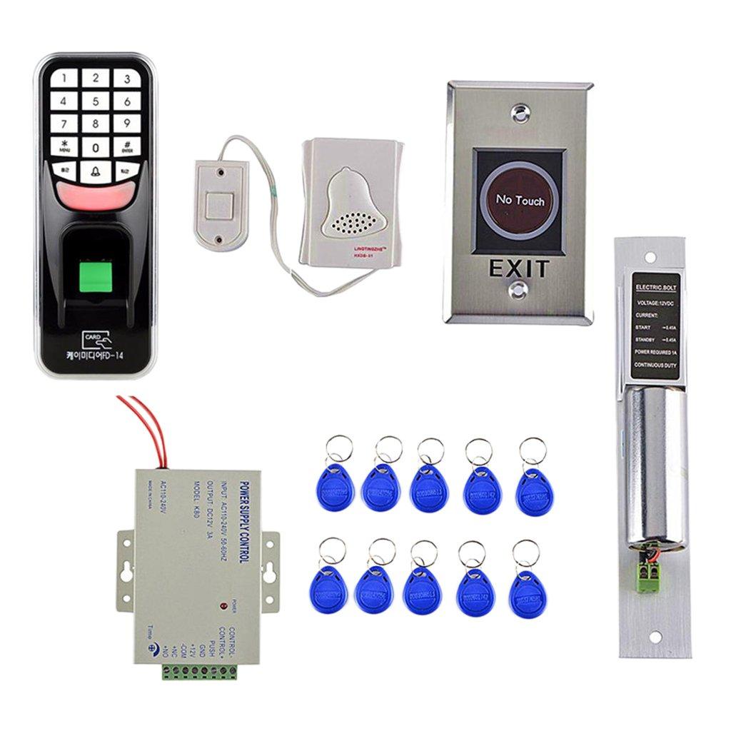 Baoblaze IR ノータッチ ドアスイッチ 指紋 EMカード ドアアクセス制御システム キット B07D4HWGFR
