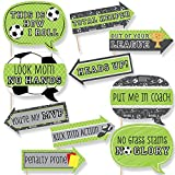 Funny GOAAAL! - Soccer - Baby Shower or Birthday Party Photo Booth Props Kit - 10 Piece