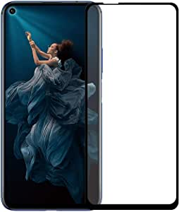 huawei Nova 5T Tempered Glass Screen Protector - Full Coverage Screen Shield Transparent Screen Protector for Huawei Nova 5T (Black)