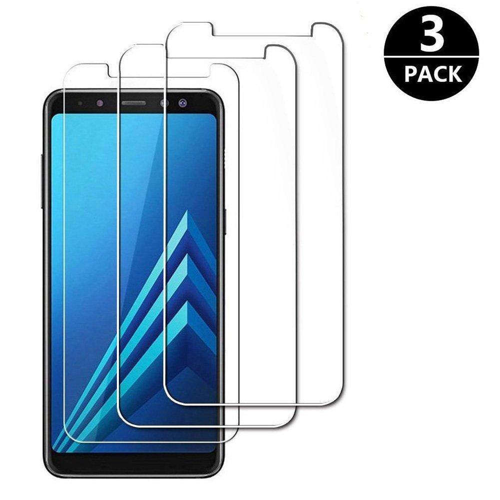 [3-Pack] Samsung Galaxy A8 2018 Screen Protector, MOCACA Protector Glass Samsung A8 2018 Screen Tempered Glass Screen Protector Samsung Galaxy A8 2018