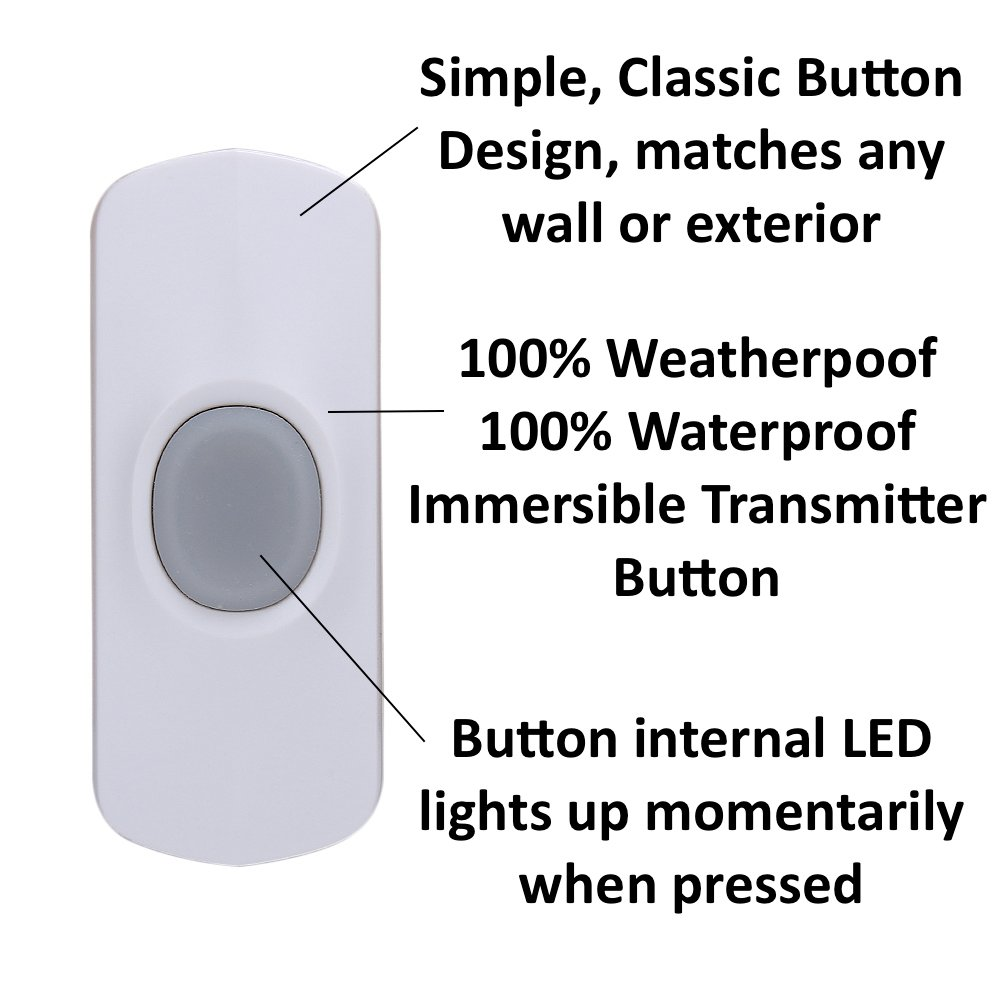 AcePoint 2-in-1 Wireless Doorbell Motion Sensor Night Light Series, Plug-in Wireless Door bell w/LED Night Light Function, Long Operating Range by SadoTech (Image #3)