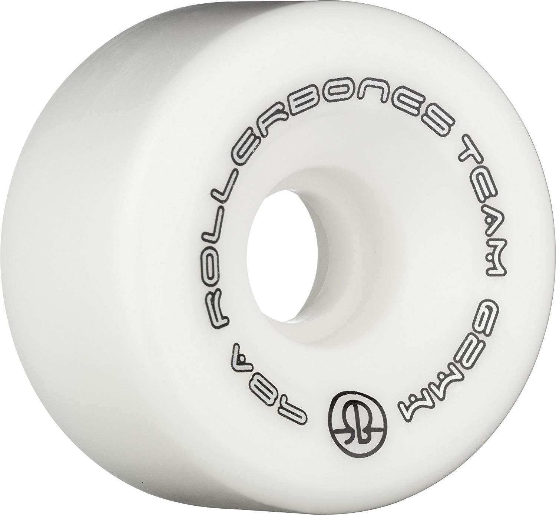 (57mm, White) - Rollerbones 8) Team Logo 98A Recreational B008RYYUJI Roller Wheels Skate Wheels (Set of 8) B008RYYUJI, 尾上町:18ee76c4 --- wap.sorvetes.net