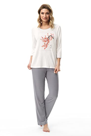 bf15691693a31 e.FEMME - Ensemble de Pyjama - Femme Small: Amazon.fr: Vêtements et ...