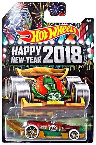 HOT WHEELS HOLIDAY HOT RODS EXCLUSIVE CARBONATOR HAPPY NEW YEARS 2018 DIE-CAST