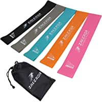 Resistance Bands-Exercise Workout Bands Resistance Loop Bands for Legs and Butt Fitness Theraband Band Set of 5 for Home,Gym,Yoga, Pilates