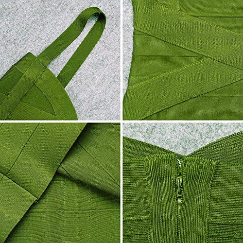 Bandage Bodycon Spaghetti Verde Mini Dress Strap Rayon Militare HLBandage Women's q4OxXY1v