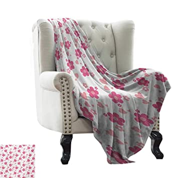 Amazon.com: Luckyee Pink and White,Weave Pattern Extra Long ...