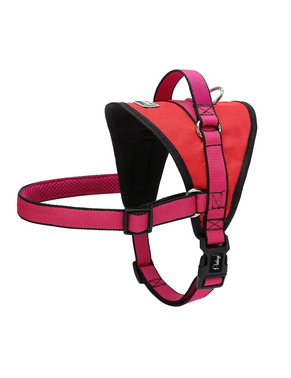 Pink XL Pink XL XQQX Pet Leashnylon Harness For Medium Large Pet No Pull Soft Harness Vest With Quick Fit Handle For Walking Training