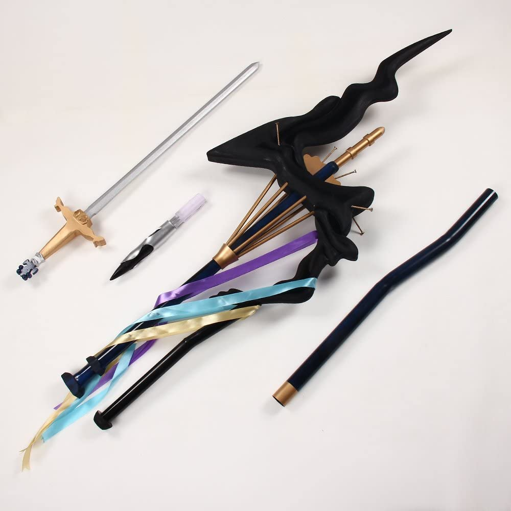 """Fate Grand Order Merlin Wand With Sword Cosplay Prop 78"""""""
