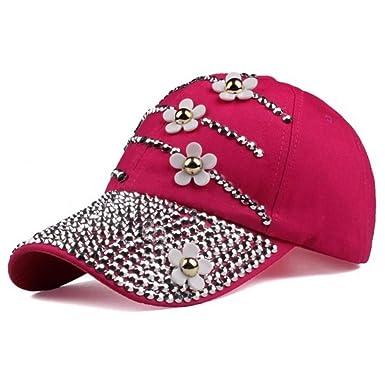 Mzdpp Gorras De Béisbol con Flores Mujer Sombrero De Sol Ajustable ...