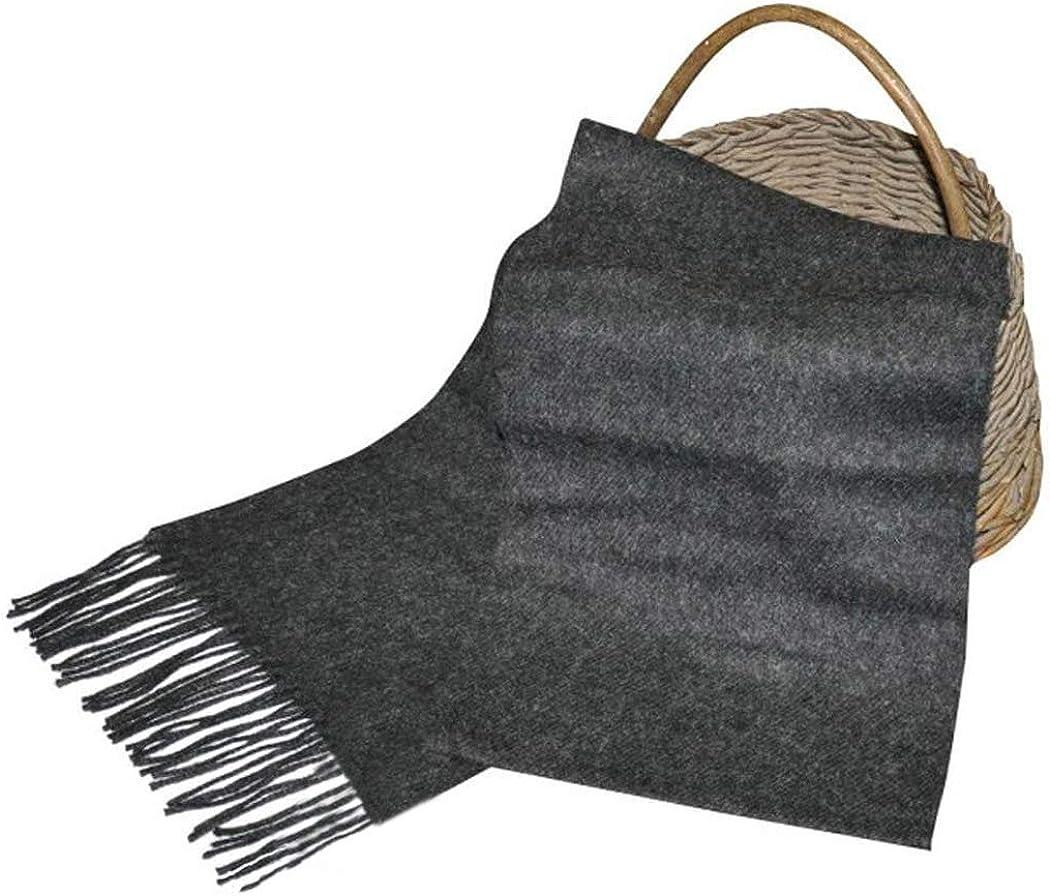 Handmade in Ireland Gray 100/% Real lrish Wool Luxury Lambswool Scarf