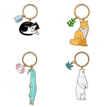 Amazon.com: Stock Show - Juego de 4 llaveros para mascotas ...
