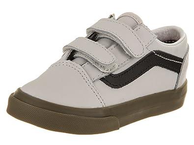 4fbc8b96eb Vans Toddlers Old Skool V (Bleacher) Gray Black Gum Skate Shoe 5