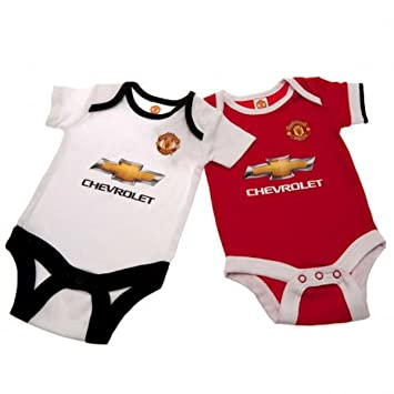 ce3717d6197 Manchester United F.C. 2 Pack Bodysuit 12 18 mths Official Merchandise