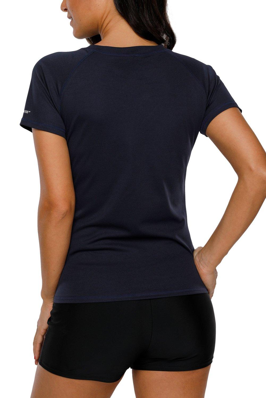 Vegatos Women Short Sleeve Swim Shirt UV Protection Workout Shirt Athletic Top by Vegatos (Image #3)