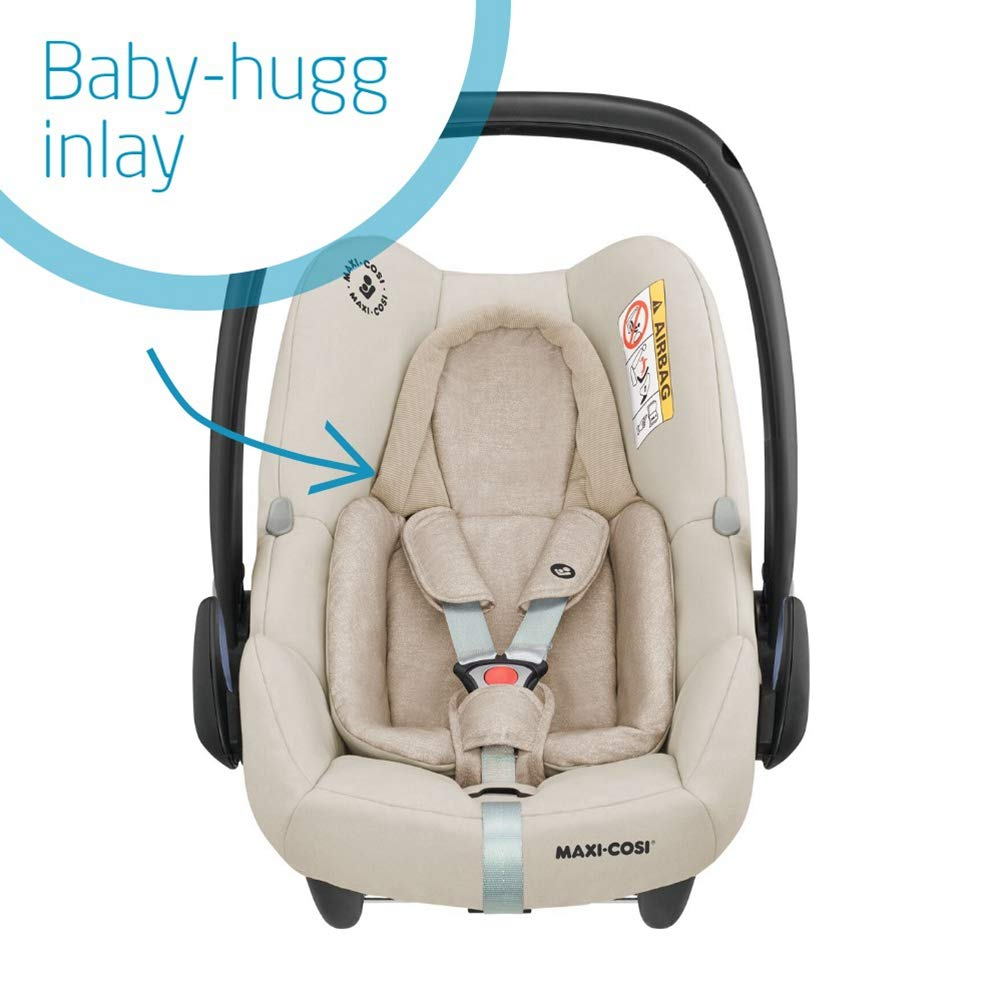 ISOFIX 0-12 m 0-13 kg Sparkling Grey Maxi-Cosi Rock Baby Car Seat Group 0+ Rearward-Facing i-Size Car Seat