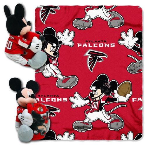 NFL Atlanta Falcons Mickey Mouse Pillow with Fleece Throw Blanket Set