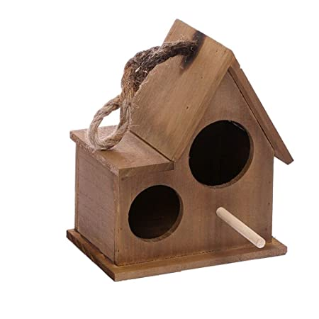 PIAOLING Jaula de pájaros Caja de Madera Jardín Jaulas de pájaros ...