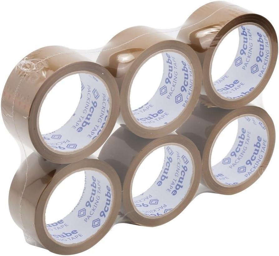 robust und sicher Klebeband f/ür gro/ße Pakete und Boxen. 48/mm x 66/m /stark 9/W/ürfel 6/Rollen braun Verpackung Tape/