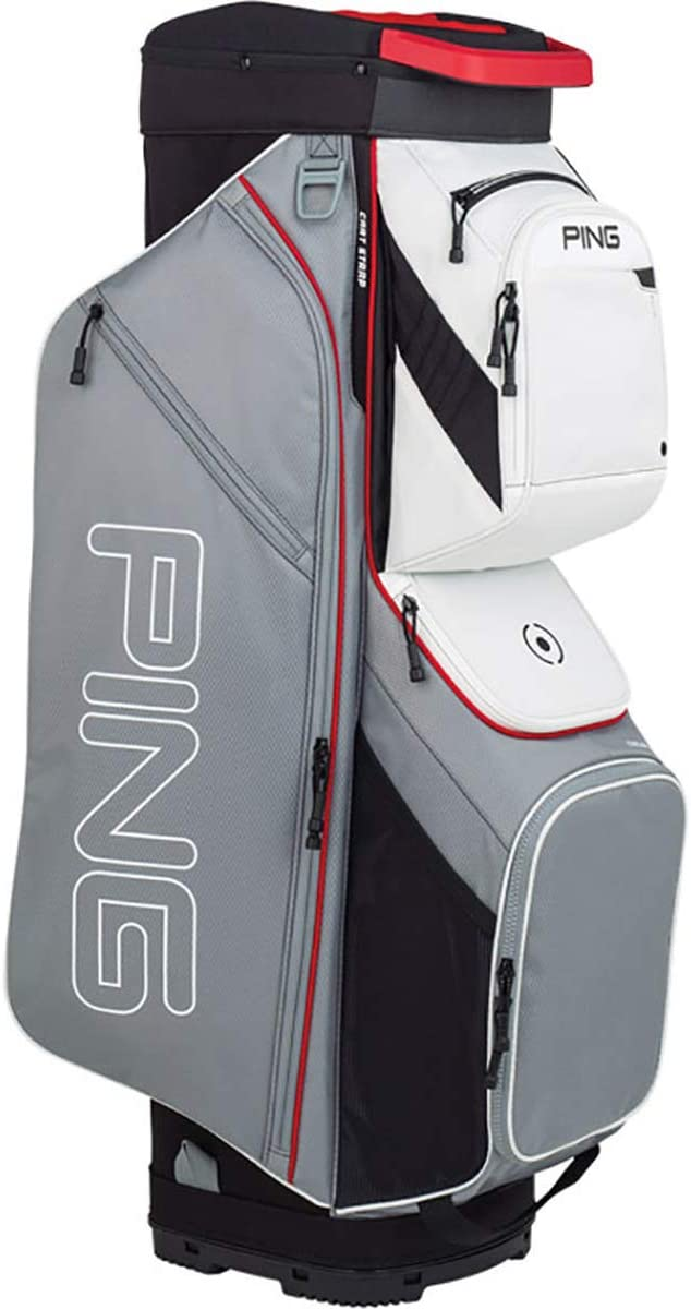 PING New 2019 Traverse 191 Silver Scarlet White 14-Way Golf Cart Bag