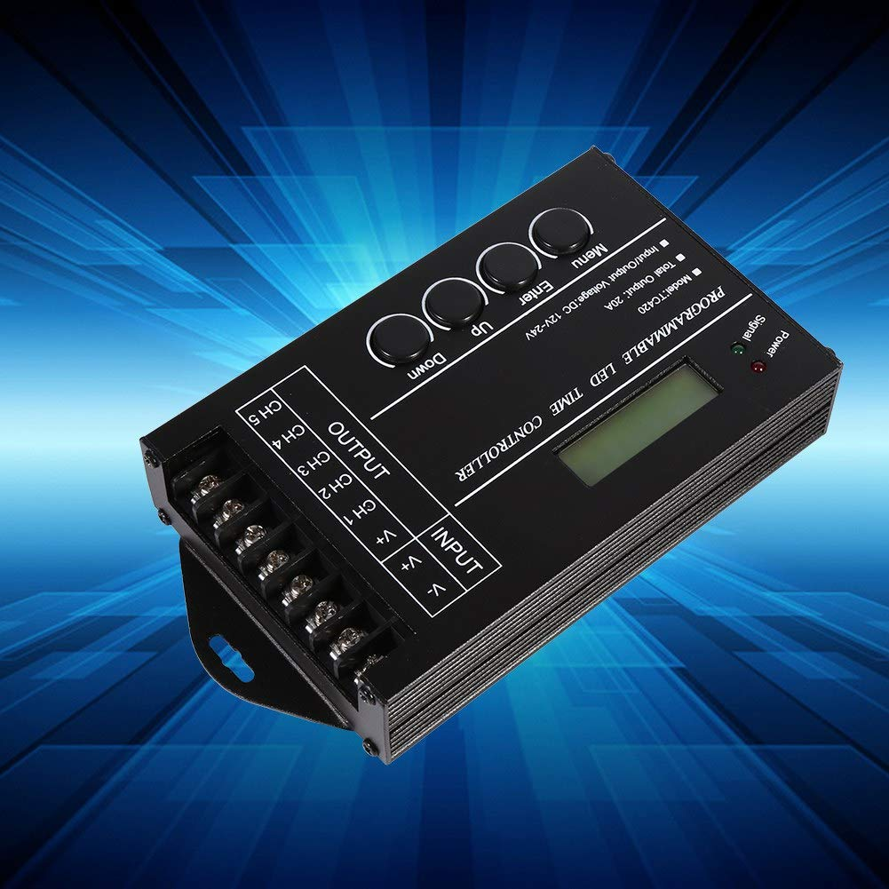 DC12//24V 20A Programmable LED Time Controller 5 Channels Color Adjustable with CD USB Cable Lighting Accessories Programmable LED Time Controller Kit