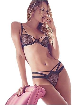 8b8b4bda4efcc Victoria s Secret Very Sexy Strappy Cutout Demi Bra Thong Set (36C Large)