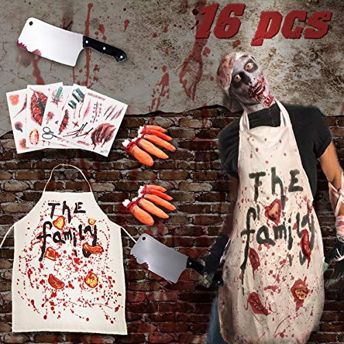 Pawliss Halloween Zombie Butcher Costumes Props Hounted House Decorations Apron