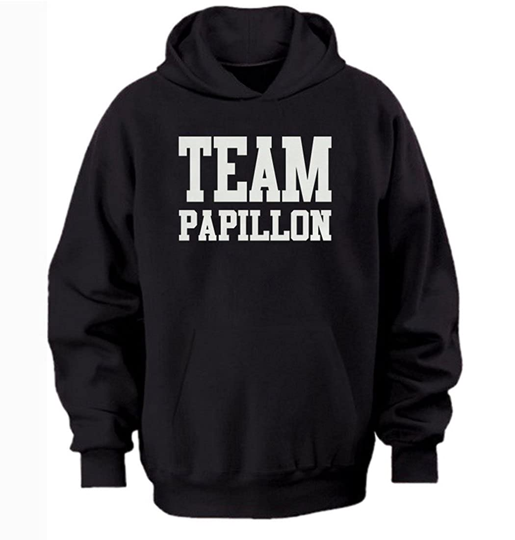 free worldwide shipping black xl//47 inch chest Team papillon hoodie by Bertie