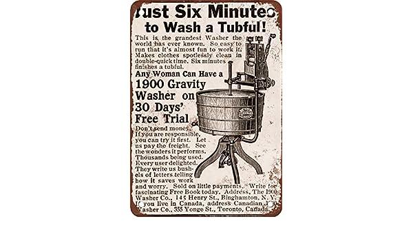 1909 Gravity Tub Lavadora Aspecto Vintage reproducción Metal Tin ...