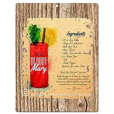 Para cóctel Bloody Mary Chic Kitchen rústico Tropical diseño Retro ...