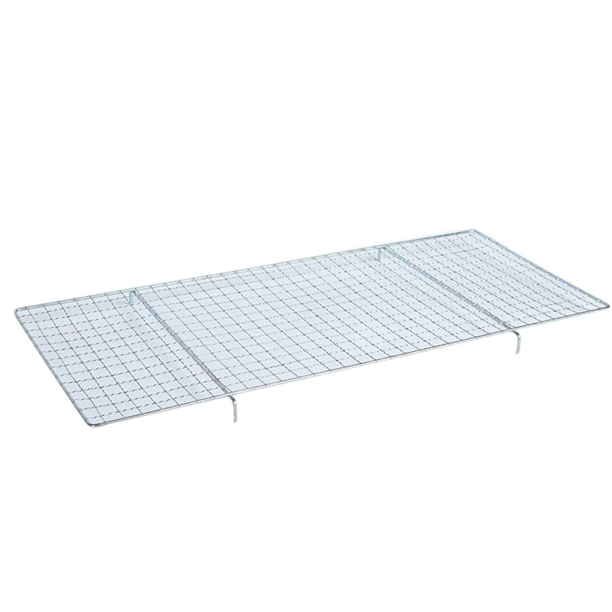 Godagoda Multipurpose Stainless Steel Non-Stick Barbecue Baking Wire Mesh Grill Rectangle BBQ Net Mesh Barbecue Racks/Carbon Baking Net/Grill/Cooling Racks (with Stand Leg)