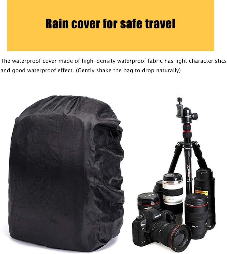 Tripod Holder Rain Cover JTYX Portable Camera Backpack Laptop Compartment Padded Dividers Long-Lasting Durability and Storage Pockets Compatible with Many DSLRs