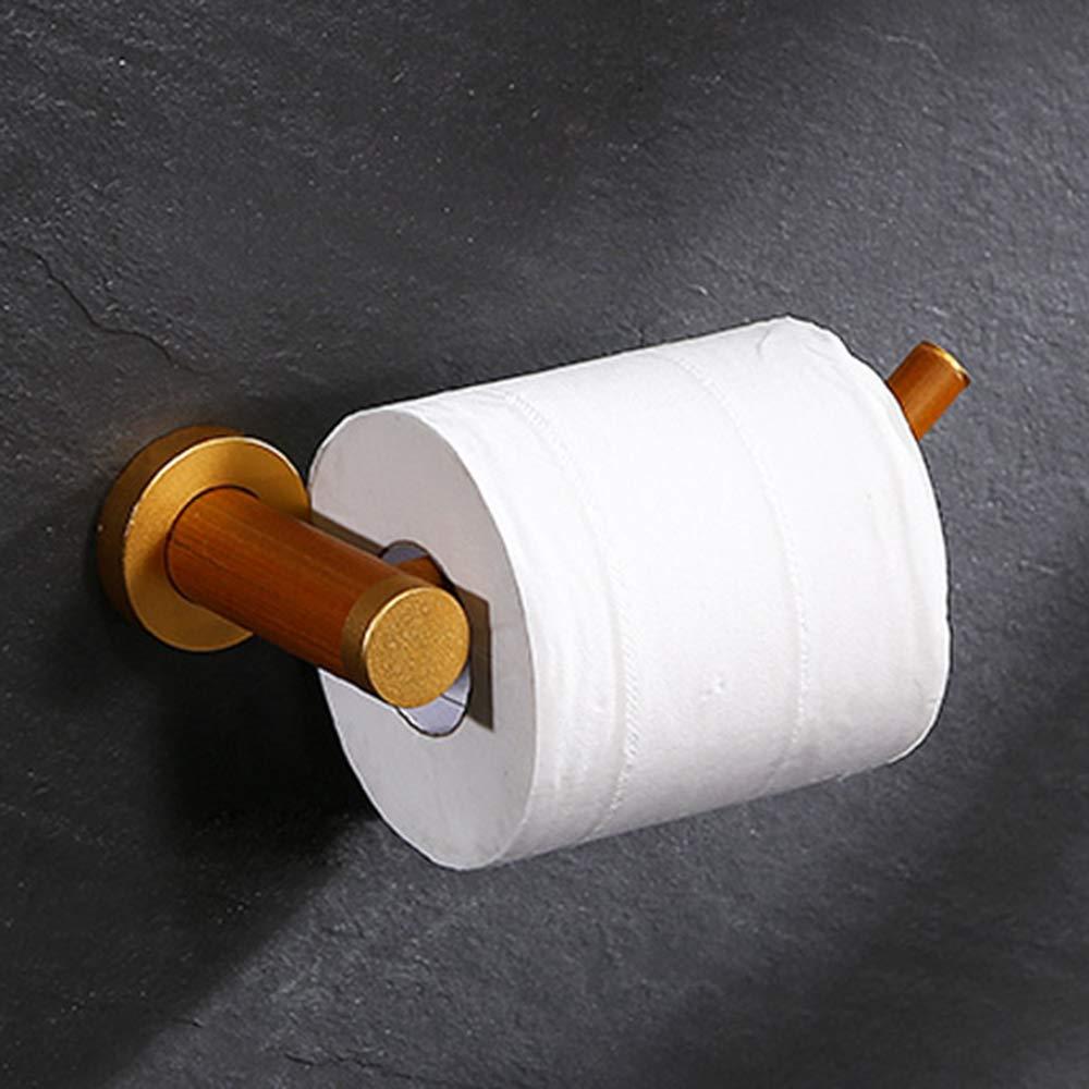 ERT Toilet Roll Holder,Wooden Does Not Rust Toilet Paper Holder Roll Holder Suitable for Hotel Bathroom Home
