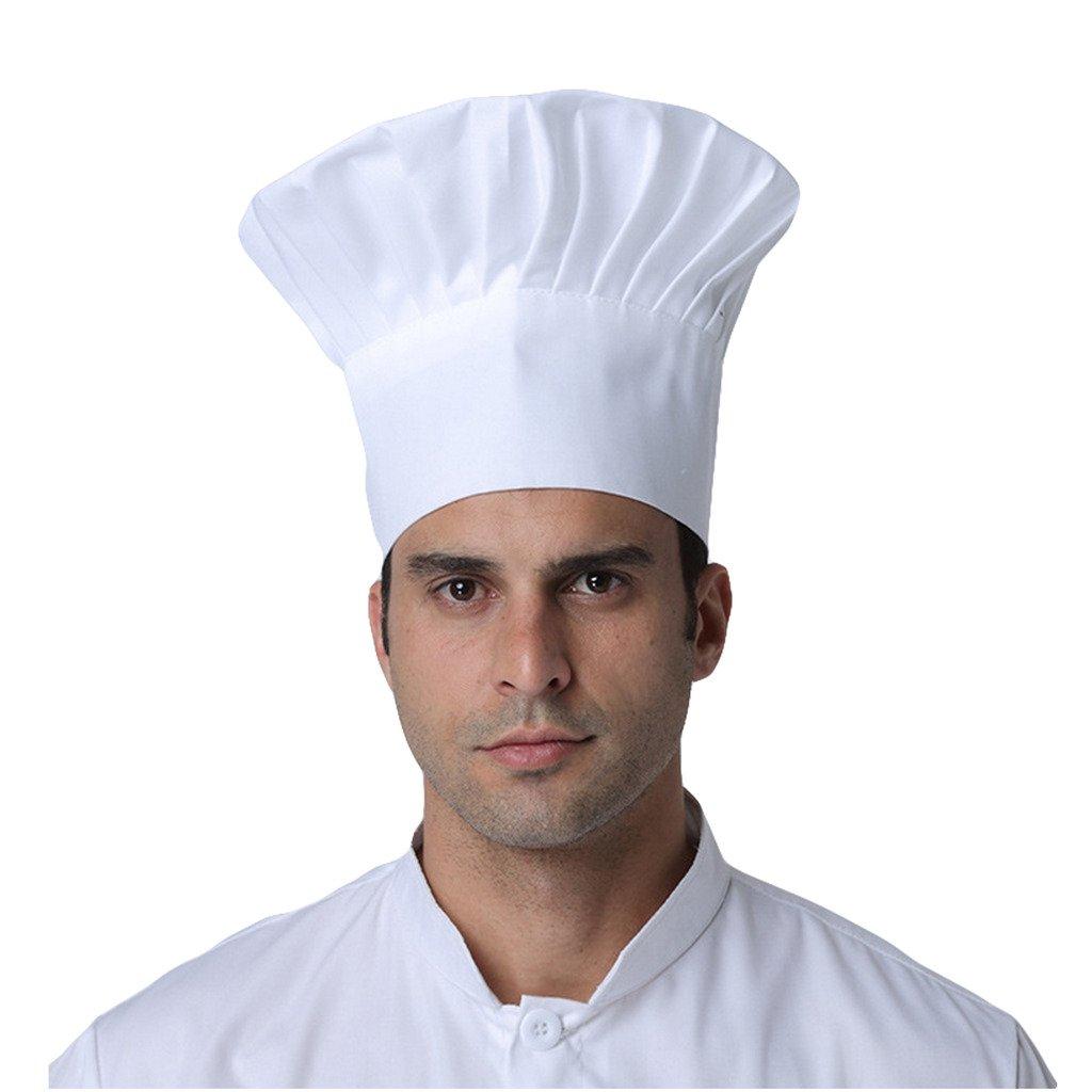 VMANNER Chef Hat Adult Adjustable Elastic Baker Kitchen Cooking Chef Cap One Size Multi Color