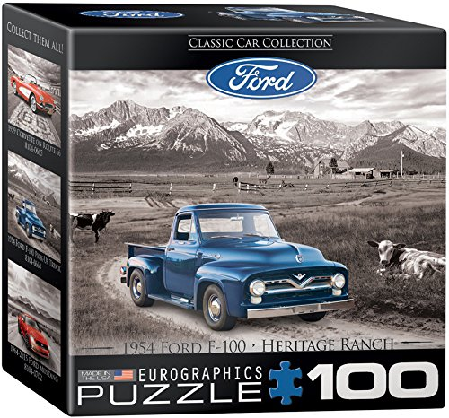 EuroGraphics Ford F 100 Pick Up Truck Mini Puzzle (100 Piece)