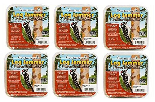 6 Packs Pine Tree Farms Log Jammer Peanut Suet 3 Plugs Per Pack (18 Plugs Total)
