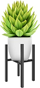 Adjustable Metal Plant Stand - Black Mid Century Plant Stands Indoor Plant Holder Fits 8 to12 Inches Pots and Vases, Tall Flowers Planter Pot Stand for Corner Display Rack