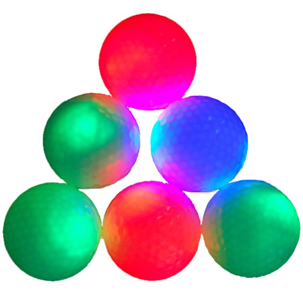15-piece Night Golf LED Balls Glow in the Dark Night Flyer (White)