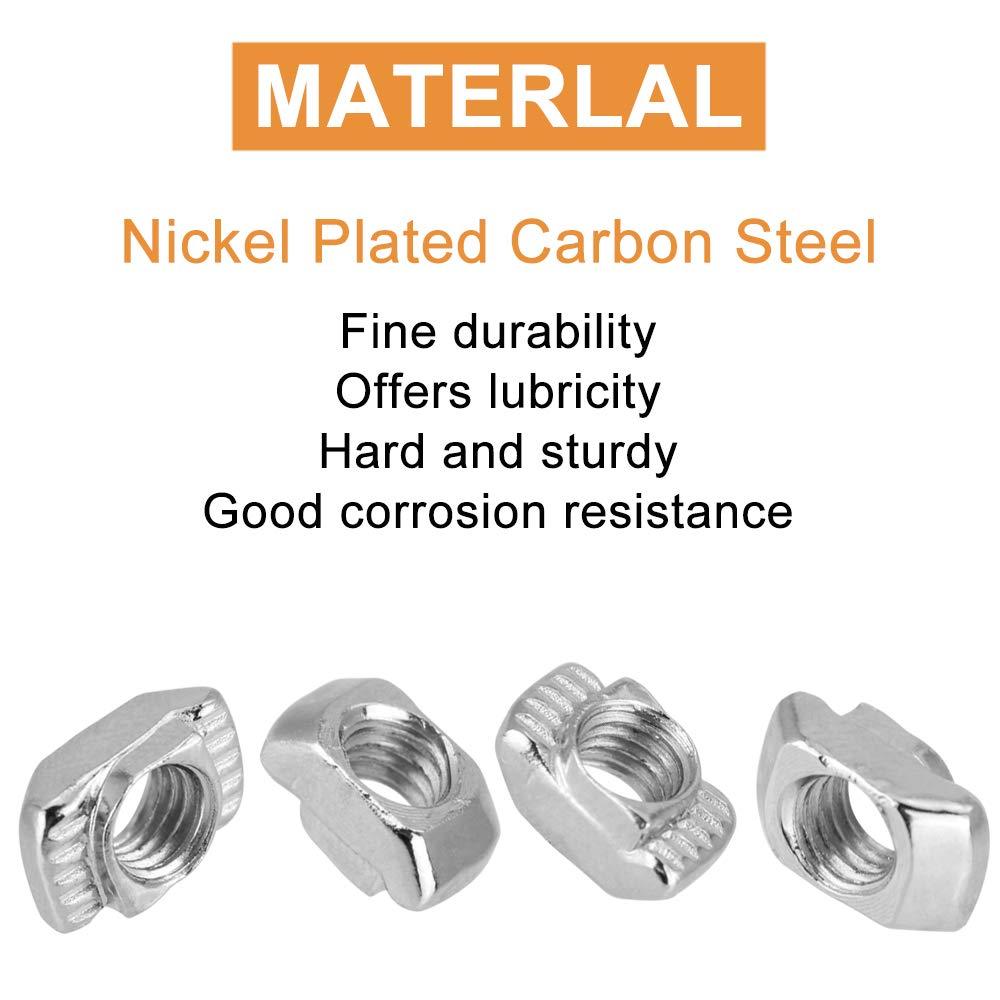 3D-Drucker LYTIVAGEN 150 St/ücke 20 Serie T Muttern T-Nut Muttern M3// M4// M5 Hammerkopf aus Kohlenstoffstahl f/ür die Bauindustrie Aluminiumrahmenstruktur