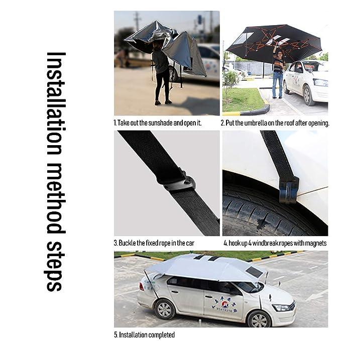 Amazon.com: LLF - Paraguas para coche, semiautomático, para ...