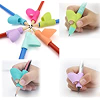 3 Stueck pro Set Kinder Bleistift-Halter MMTOP Stift mit Schreibhilfe Griff